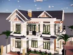 Model file Sketchup biệt thự 2 tầng 2019